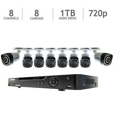 Lorex 8 Channel 720p HD Security System with 1TB HDD and 8 720p Cameras