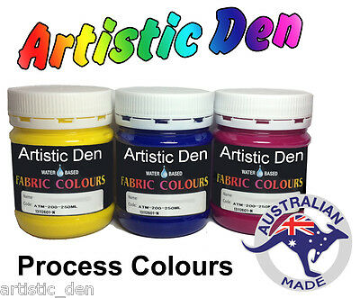 Fabric Paint Fabric Process Ink Screen Printing Ink  Permaset Compatible 250ml