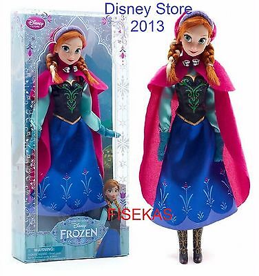 Disney Store Classic Collection Anna Doll with Red Cape 12 in Frozen NEW 2013