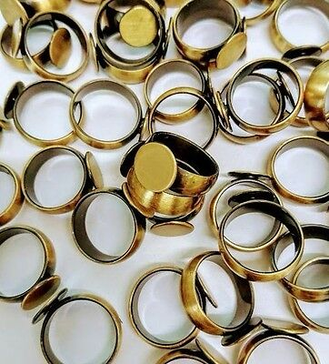 2pcs Antique Brass Base Ring 18mm Ring Blanks Jewellery Making Findings