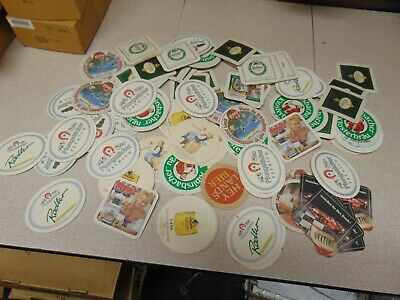 Grab Bag 20 different European Beer Coasters Old & New