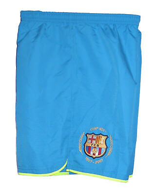 New NIKE BARCELONA Football Shorts Turquoise Youth Boys Girls L Age 12-13 Years