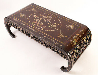 Chinese Rosewood & Mother of Pearl Opium Coffee Table