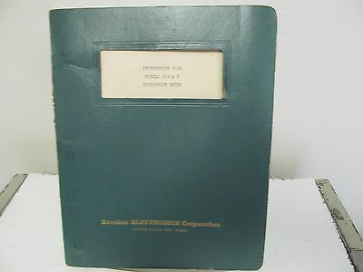 Boonton 85B, 85C Distortion Meter Instruction Manual w/schematic