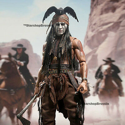 """THE LONE RANGER - Tonto 1/6 Action Figure 12"""" Hot Toys Johnny Depp"""