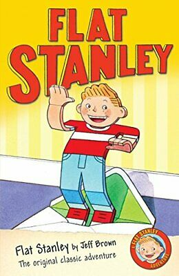 Flat Stanley, Brown, Jeff Paperback Book The Cheap Fast Free Post
