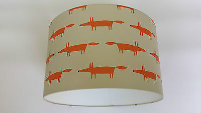 Lampshade made from Little Fox - Spirit & Soul - Scion Beige Wallpaper.Harlequin