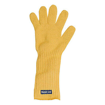 Sparco Flame & Heat Resistant Race/Rally/Motorcycle Mechanics Glove In Yellow