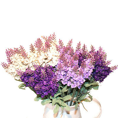 Artificial Lavender Silk Flower Bouquet  - Home Wedding Floral Decoration