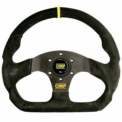 OMP Superquadro Suede Flat Steering Wheel 320/290mm Black