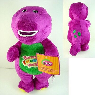"""Barney The Dinosaur 11"""" Sing I LOVE YOU song Purple Plush Soft Toy Doll + GIFT"""