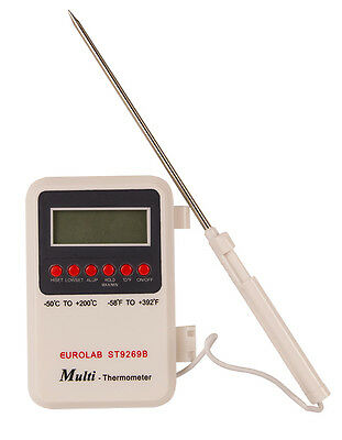 Digital Thermometer with Stainless Steel Probe for Exceptional Accuracy