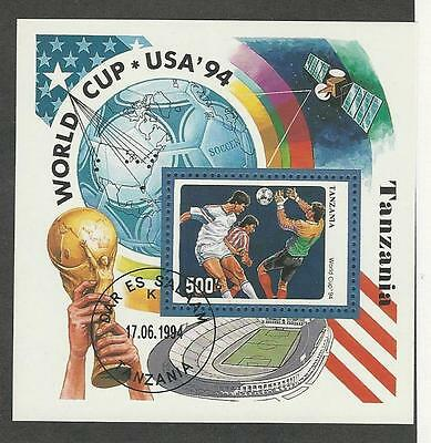 Tanzania, Postage Stamp, #1174H Used Sheet, 1994 Soccer