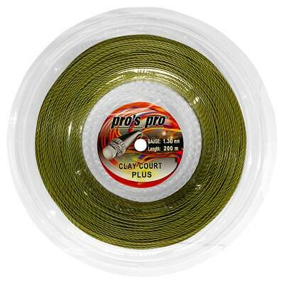 Pro's Pro Clay Court Plus 1.30mm 16 Tennis Strings 200M Reel