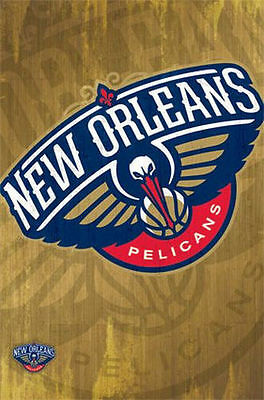 New Orleans Pelicans Logo Poster 22x34 Shrink Wrapped