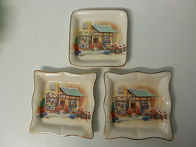 "3 Lancaster & Sandland mini plates of ""The Posy Shop"""
