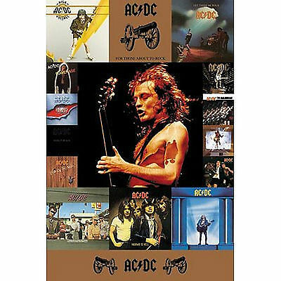 AC/DC - ALBUM COVERS POSTER - 24x36 SHRINK WRAPPED - MUSIC 9091