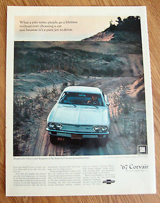 1967 Chevrolet Corvair 500 Sport Coupe Ad   Car is a pure Joy to Drive