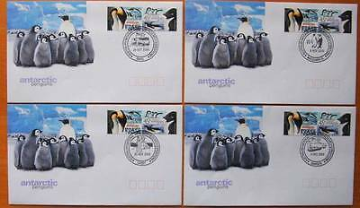 Australia & Antarctic Territory Penguins Set Of 4  First Day Covers With 2 Stamp