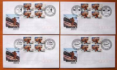 Australia & Antarctic Territory Mawson's Huts  Set Of 4  First Day Covers