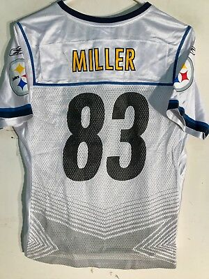 9332d2688 Reebok Women s NFL Jersey Pittsburgh Steelers Heath Miller White Super Bowl  ...