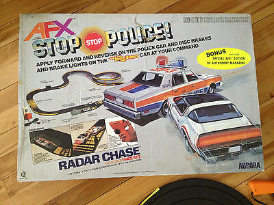 AFX STOP POLICE CAR SET 1981 AURORA