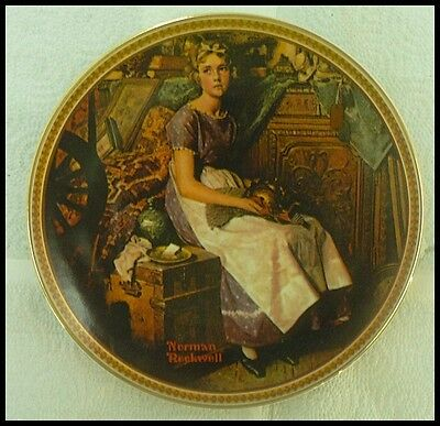 """""""Dreaming In The Attic"""" NORMAN ROCKWELL Rediscovered Women Collection Plate"""