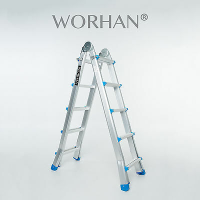 WORHAN®  530cm Ladder Foldable Telescopic Extendable 5.3m Multipurpose Rigid L5