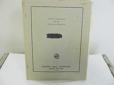 Boonton 265-A Q Comparator Operating Manual w/schematics