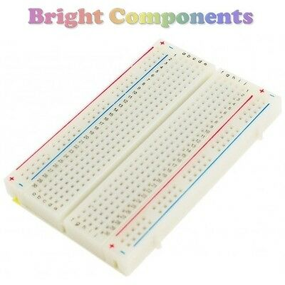 Solderless Prototype Breadboard (400 Points) - Electronics - 1st CLASS POST