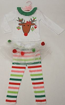 Holiday Christmas / New Year 2pc/set childrens girly cotton set 3T