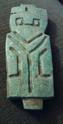 "Large 7"" Pre-Columbian Speckled Jade Axe God Ancient Ecuador Artifact"
