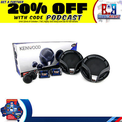 "Kenwood Car Audio Pack Kac-Ps527 400W 2 Channel Amp Kfc-M614P 6"" Splits + Wiring"