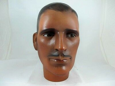 Art Deco Mannequin Head Of An English Gentleman With Glass Eyes C1930'S