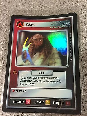 Star Trek CCG 1E Reflections Foil Kahless VRF Very Rare