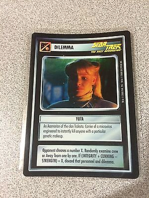 Star Trek CCG 1E Reflections Foil Yuta VRF Very Rare
