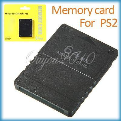 CARTE Mémoire 64 MB MEMORY CARD Jeux Pour CONSOLE Sony PLAYSTATION 2 PS2 Neuf