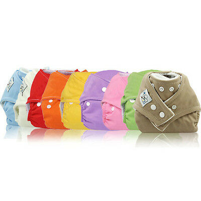 Newborn Baby Cloth Wrap Diaper Cover Pants Underware Washable Reusable Nappies