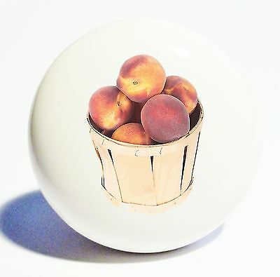 Peach Basket  Home Decor Ceramic Knob Drawer Cabinet Pull