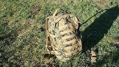 USMC ILBE ASSAULT PACK. GEN 2 MARPAT US Military with Hydration Pack Good Cond.