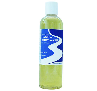Liquid Castile Soap Hand & Body Wash Blend Unscented 100% Natural 250Ml Incl P&h