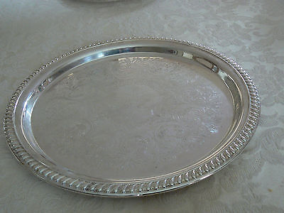 Vintage Estate Find Sheridan Silverplate Taunton Silversmiths LTD Serving Tray