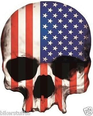 Skull Usa Flag Bumper Sticker Car Sticker Laptop Sticker Window Sticker Toolbox