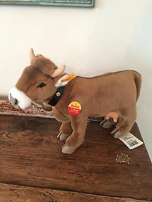 """Large Steiff Bertha cow Mint condition 13"""" long has all tags, 072925"""