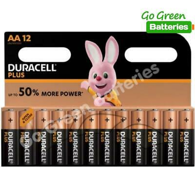 12 x Duracell AA Plus Power Alkaline Batteries, Duralock. LR6, MN1500, MIGNON