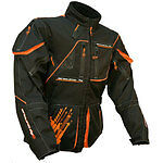 New Sinisalo Waterproof Enduro Quad Trail Jacket Orange-Black Small