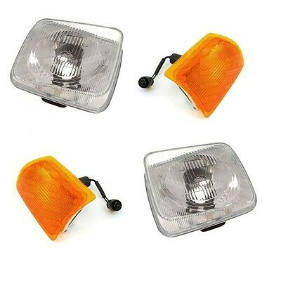 Land Rover Discovery 1 200Tdi New Front Headlights & Indicator Lamps Set (89-94)