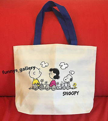 Snoopy Charlas Brown Lucy Woodstock Handbag Shopping Bag