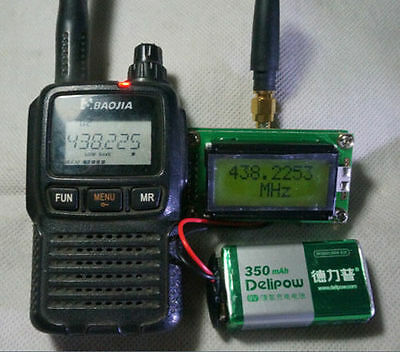 High Precision LCD RF Frequency Counter with Antenna for Ham Radio Hobbist