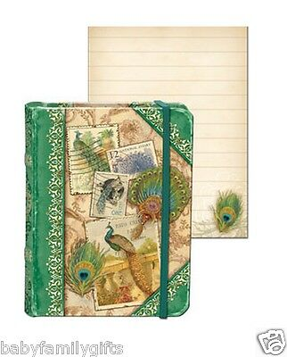 Punch Studio Everyday Collection Tiny Book Pocket Journal - Peacock Cards 56387